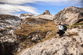 Hiking in Dolomite — Stock Photo