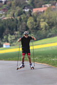 Roller skiing — Stock Photo