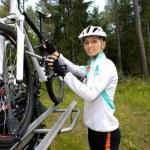Cycling woman — Stock Photo #6101602