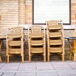 Stacked chairs — Stock Photo