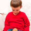 Child with hamster — Stock Photo