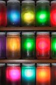 Colorful jars — Stock Photo