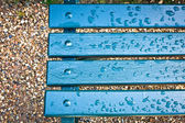 Bench after rain — Stock Photo