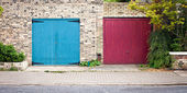 Garage doors — Stock Photo