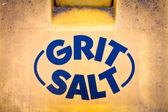 Gritting salt — Stock Photo