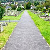 墓地のパス — ストック写真