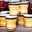 Wooden bongos — Stock Photo