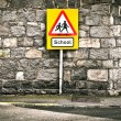 Stock Photo: School sign