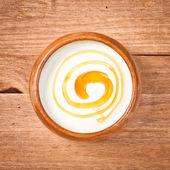 Joghurt und honig — Stockfoto