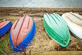 Upturned boats — Stock Photo
