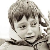 Chico infeliz — Foto de Stock