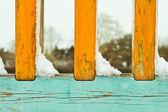 Snow on railings — Stock Photo