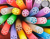Colorful pen lids — Stock Photo