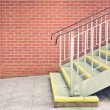 Foto Stock: Metal stairs