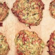 Stock Photo: Courgette fritters