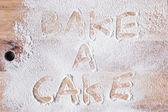 Bake a cake — Stock Photo