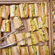 Coronation chicken baguettes — Stock Photo