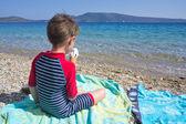 Sorvete na praia — Fotografia Stock