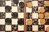Draughts pieces — 图库照片