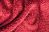 Red knitted wool — Stock Photo