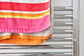 Towel rail — Stock Photo
