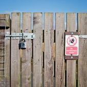 Locked gate — Stock Photo