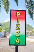 Segno di pizza — Foto Stock
