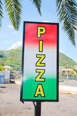 Pizza sign — Stock Photo