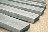 Railway sleepers — Stock Photo
