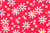 Red floral fabric — Stock Photo