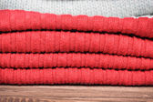 Red wool — Stock Photo