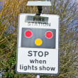 Fire station sign — Stock Photo