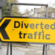 Diverted traffic — Stock Photo