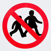 Children forbidden  — Stock Photo