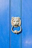 Antique door knocker — Stock Photo