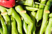 Green jalpeno peppers — Stock Photo