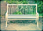 Garden bench — Stock Photo