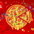 Abstract Background Pizza - Foto Stock
