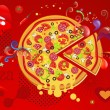 Abstract Background Pizza - Zdjęcie stockowe
