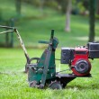 Stock Photo: LAWN MOWER TILLER