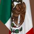 Mexican flags close up — Stock Photo