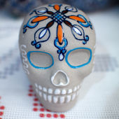 Day of the death skull — Stock Photo
