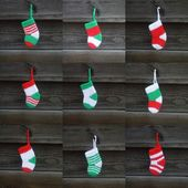 Christmas stockings collage — Stock Photo