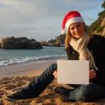 Christmas beach ad — Stock Photo #8003861