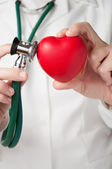 Doctor examining a heart — Stock Photo