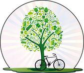 Árvore ecológica — Stock Vector