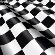Stock Photo: Waving chequered flag