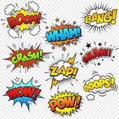 Komik ses efektleri — Stok Vektör
