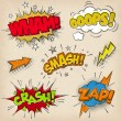 Stock Vector: Grunge Comic Cartoon Sound Effects