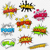 Comic Sound Effects set2 — Vettoriale Stock